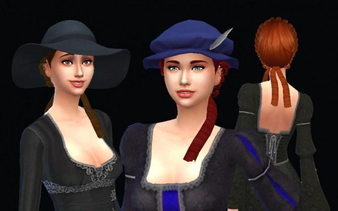 Sims 4 Rococo Hair Conversion at My Stuff