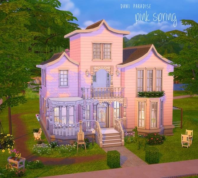 Pink Spring House At Dani Paradise 187 Sims 4 Updates