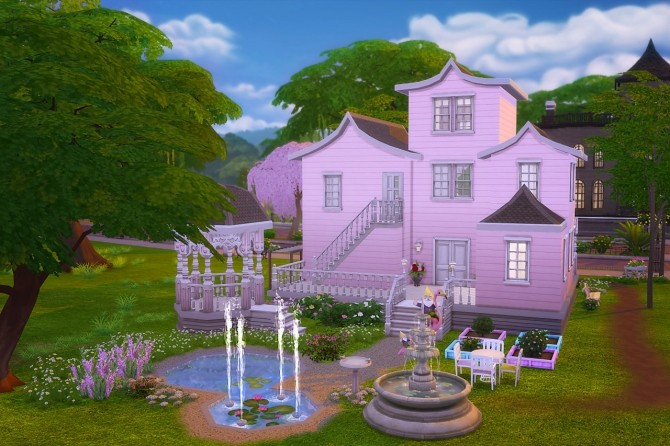 Pink Spring House At Dani Paradise 187 Sims 4 Updates