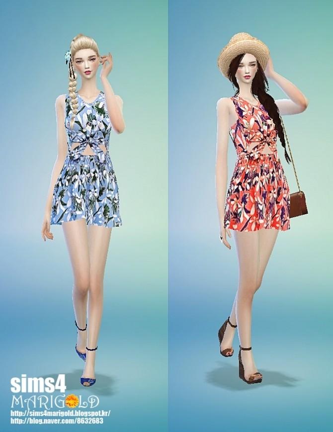 Flower summer dress at Marigold 187 Sims 4 Updates : 1752 670x869 from sims4updates.net size 670 x 869 jpeg 92kB