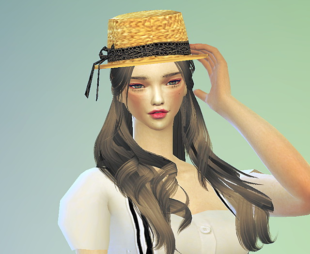 Lace ribbon straw hat at Marigold image 1753 Sims 4 Updates