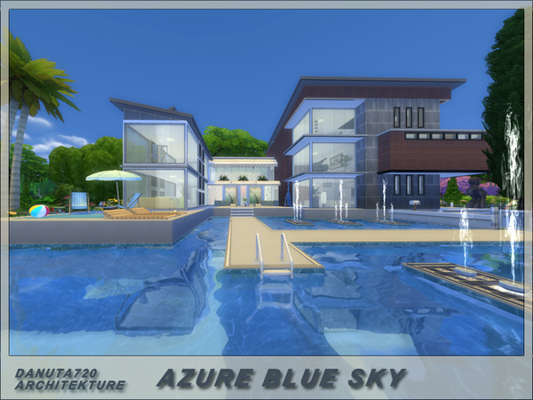 Azure blue sky house by Danuta720 at TSR image 1758 Sims 4 Updates