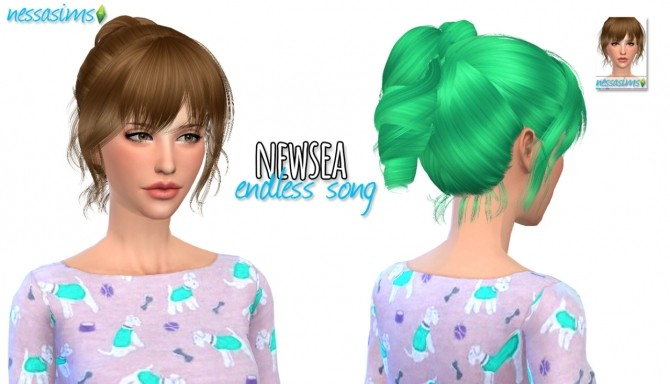 Sims 4 Newsea Endless Song retexture at Nessa Sims