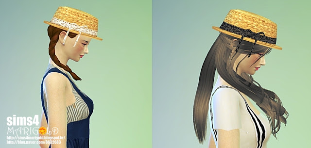 Lace ribbon straw hat at Marigold image 1772 Sims 4 Updates