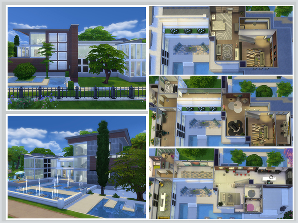 Azure blue sky house by Danuta720 at TSR image 1777 Sims 4 Updates