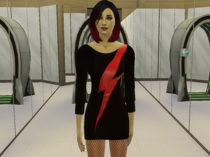 Sims 4 Black sweater dress at Tatyana Name