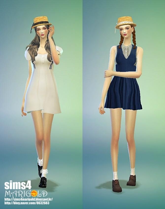 Lace ribbon straw hat at Marigold image 1782 670x848 Sims 4 Updates