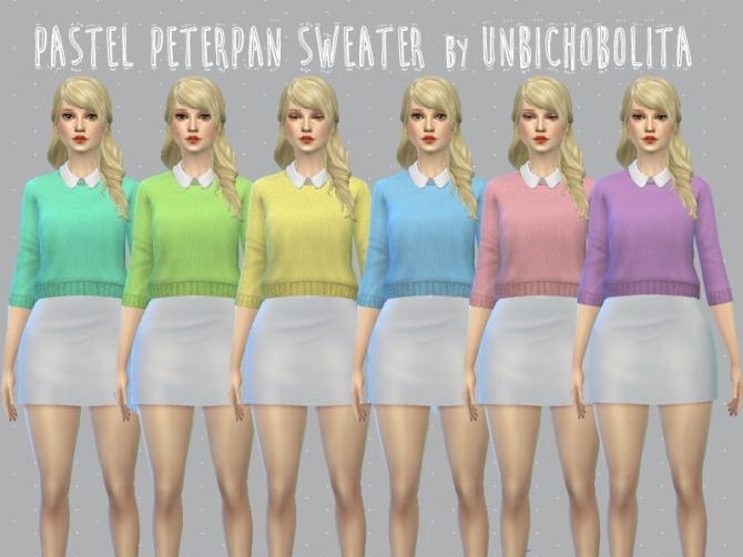 Pastel Peterpan Sweater At Un Bichobolita 187 Sims 4 Updates