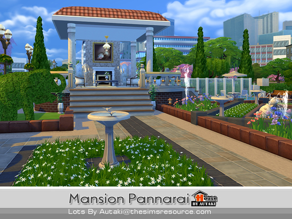 Mansion Pannarai by autaki at TSR image 18107 Sims 4 Updates