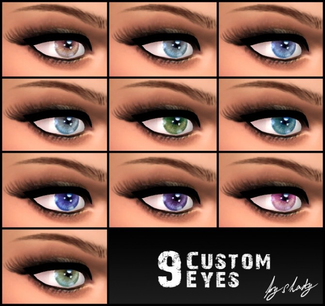 Sims 4 True To Life Custom/Default Eyes by Shady at Mod The Sims