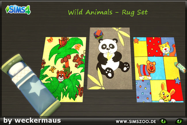 Sims 4 Kids Rug 02 by weckermaus at Blacky's Sims Zoo