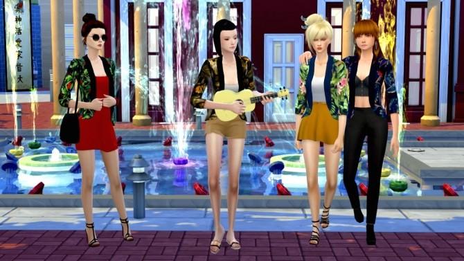 Sims 4 Jacket with tropical print at Tukete