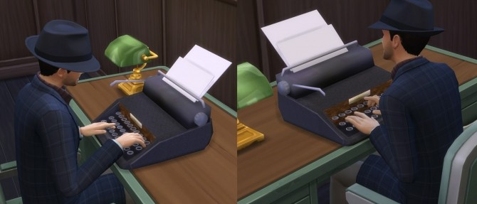Vintage Typewriter (Functions as computer) by Esmeralda at Mod The Sims image 1839 670x287 Sims 4 Updates