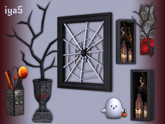 Sims 4 Gothic Decor set at Soloriya