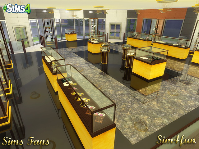Sims 4 Jewelry Store by Sim4fun at Sims Fans