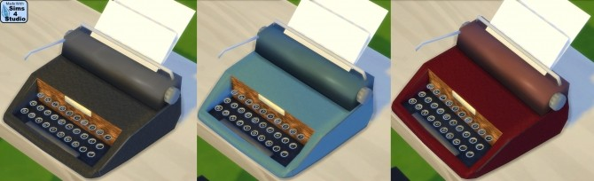 Vintage Typewriter (Functions as computer) by Esmeralda at Mod The Sims image 1867 670x204 Sims 4 Updates