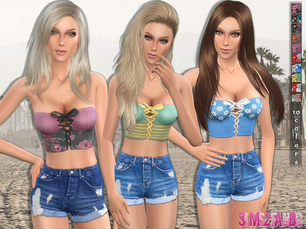 52 Everyday Corset Top by sims2fanbg at TSR image 19102 Sims 4 Updates