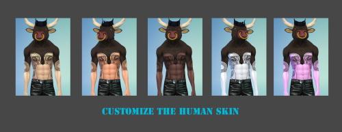 Sims 4 Minotaur set at Untraditional NERD