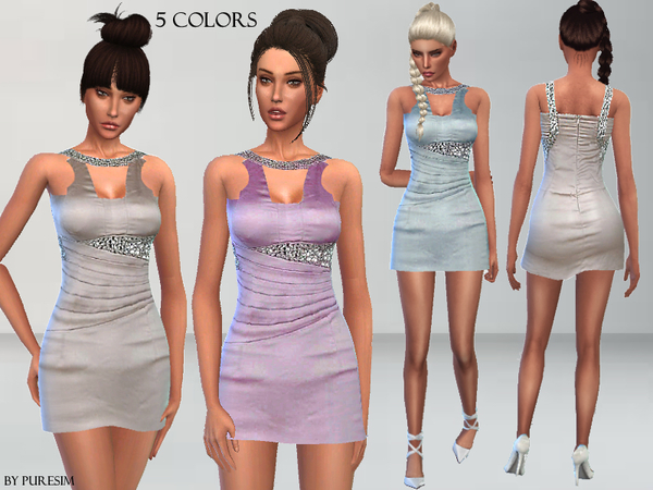 Wedding Guest Dress by Puresim at TSR image 1917 Sims 4 Updates