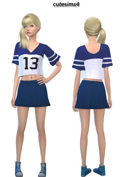 blue school outfit at cute sims4 image 1921 sims 4 updates