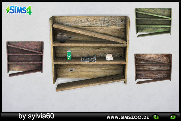 Sims 4 Broken Shelf by sylvia60 at Blacky's Sims Zoo