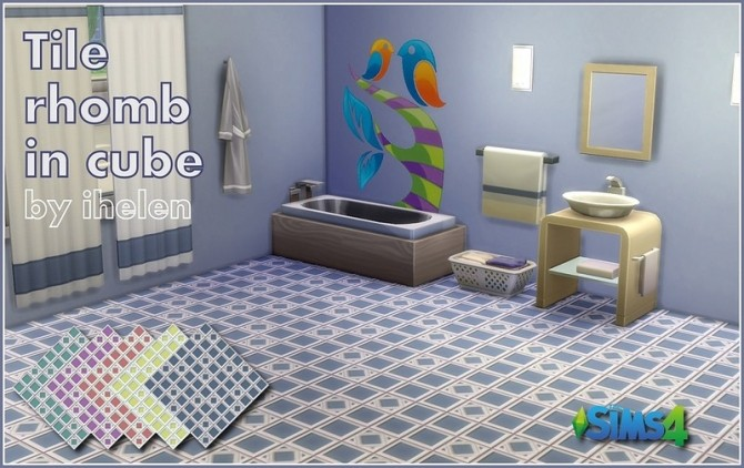Sims 4 Tile Rhomb in cube at ihelensims