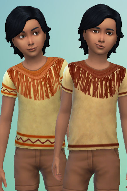 Sims 4 Indian shirt by mammut at Blacky's Sims Zoo