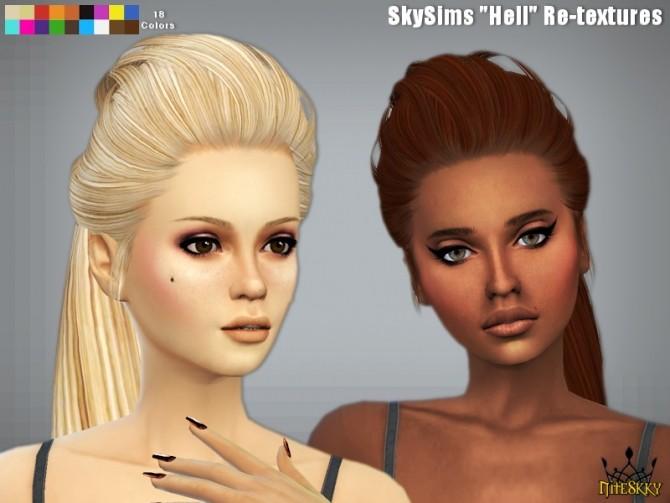Sims 4 SkySims Hair 266 Hell Re textured at NiteSkky Sims