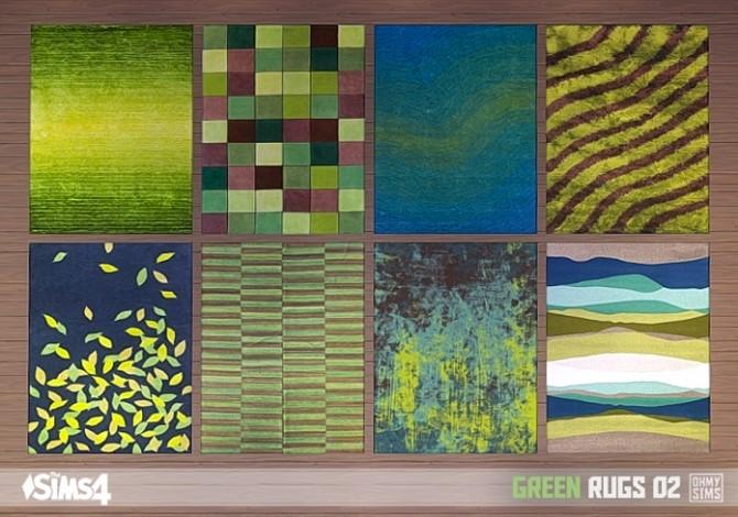 Sims 4 Green rugs 02 at Oh My Sims 4
