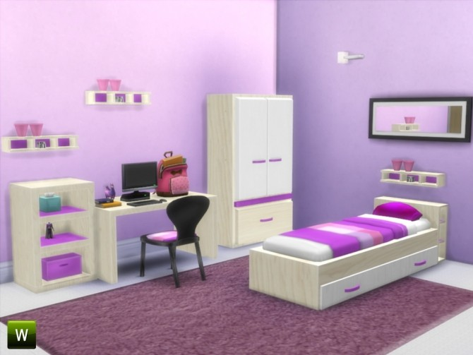 The Sweetest Dream Kids Bedroom At Little Sims Stuff