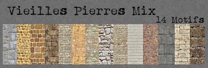 OLD STONE MIX walls by loliam at Sims Artists image 1993 670x219 Sims 4 Updates