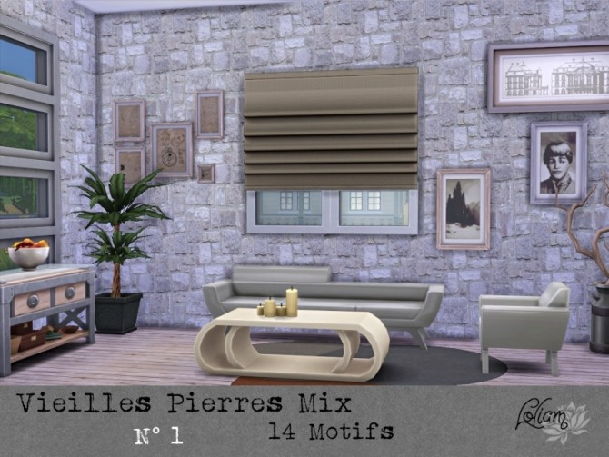 OLD STONE MIX walls by loliam at Sims Artists image 2003 670x503 Sims 4 Updates