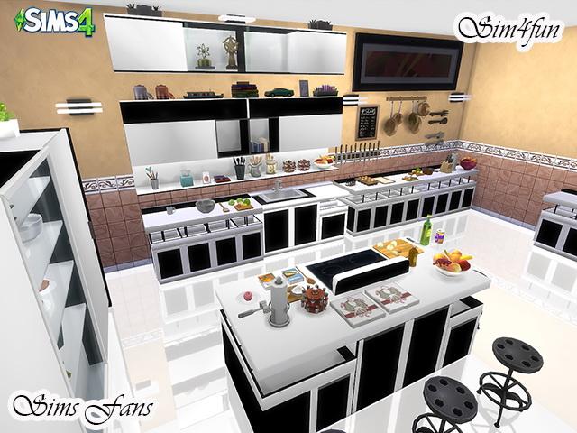 Sims 4 Modern Kitchen by Sim4fun at Sims Fans