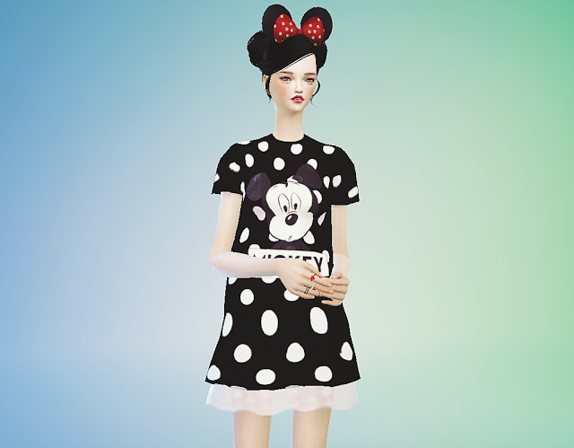 Sims 4 Lace mickey mouse onepiece at Marigold