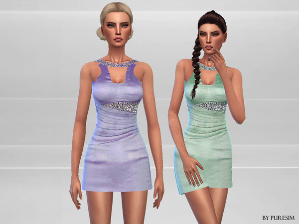 Wedding Guest Dress by Puresim at TSR image 2017 Sims 4 Updates