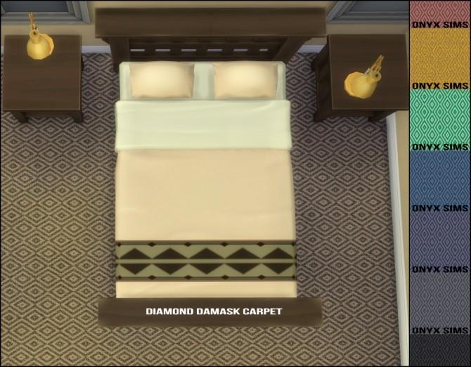 Carpets Felice and Diamond Damask by Kiara Rawks at Onyx Sims image 2041 670x522 Sims 4 Updates