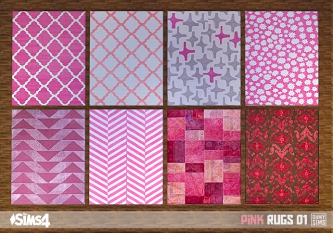 Pink rugs 01 at Oh My Sims 4 image 2042 670x470 Sims 4 Updates