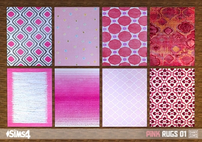 Pink rugs 01 at Oh My Sims 4 image 2052 670x470 Sims 4 Updates