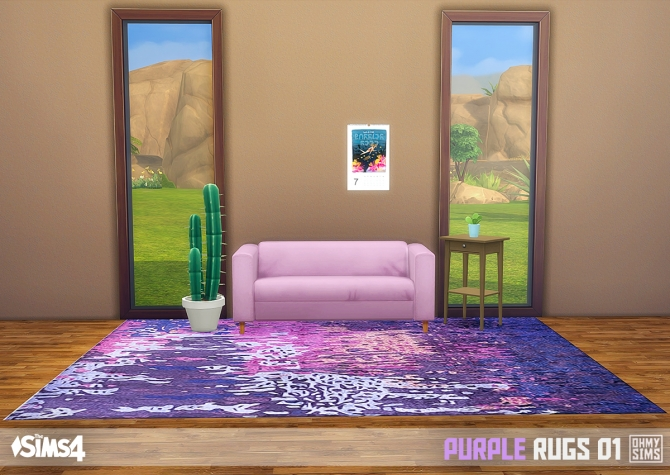 Purple Rugs 01 At Oh My Sims 4 187 Sims 4 Updates