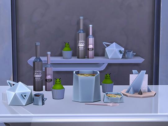 Facet Geometric Kitchen set at Soloriya image 20711 Sims 4 Updates