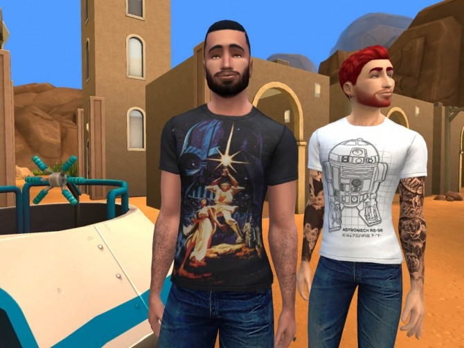 Sims 4 Star Wars colorful and funny T shirts by kasandro at Mod The Sims