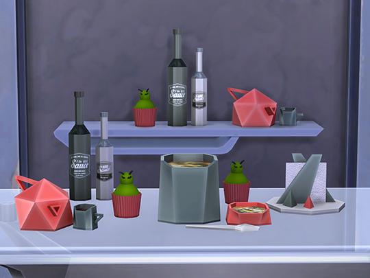 Facet Geometric Kitchen set at Soloriya image 20911 Sims 4 Updates