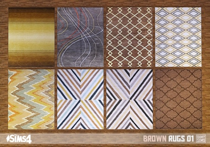 Xmas bathroom decor - Brown Rugs 01 At Oh My Sims 4 187 Sims 4 Updates