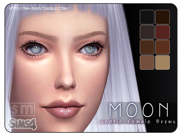 Moon Gentle Female Eyebrows by Screaming Mustard at TSR image 212 Sims 4 Updates