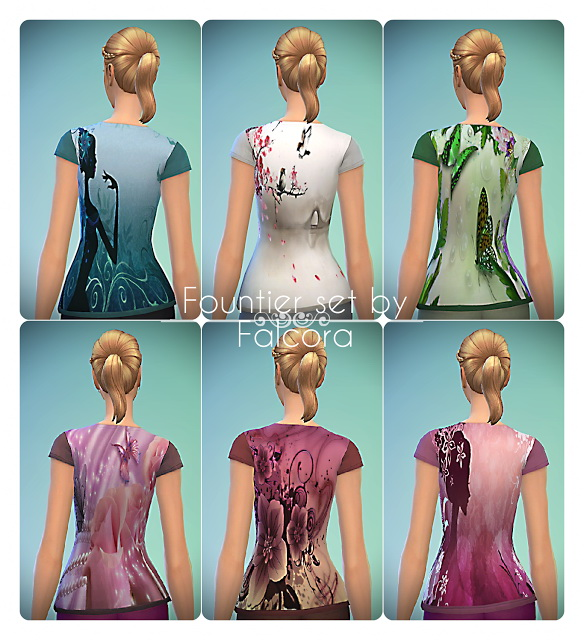 Fountier Set 6x tops at Petka Falcora image 2135 Sims 4 Updates