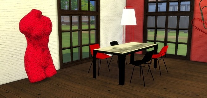 Sims 4 American  Industrial  Set at Meinkatz Creations