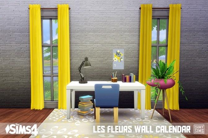 Sims 4 Les fleurs wall calendar at Oh My Sims 4