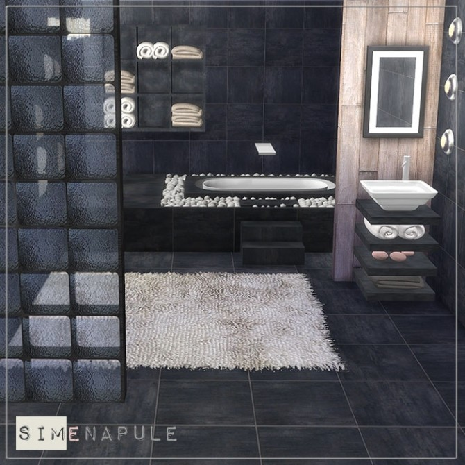 Sims 4 Alhena Bathroom at Simenapule