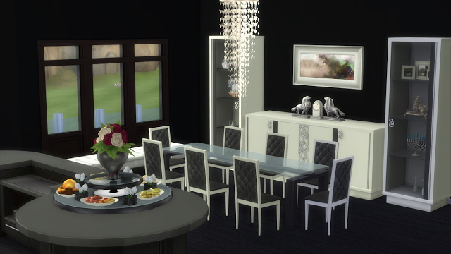 Elle 39 s kitchen n dining at sanjana sims sims 4 updates for Dining room ideas sims 4