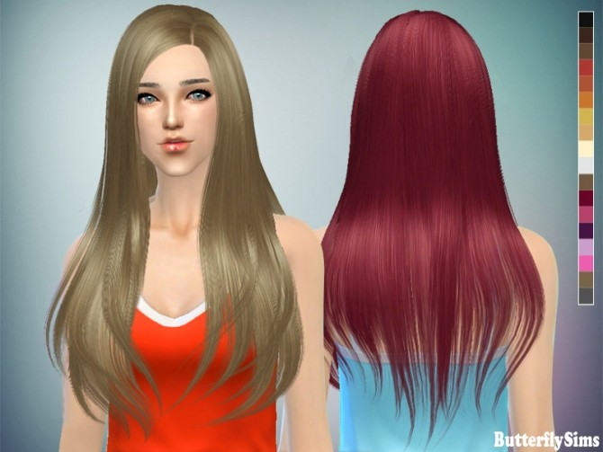 Sims 4 B fly hair baf145 (Pay) at Butterfly Sims